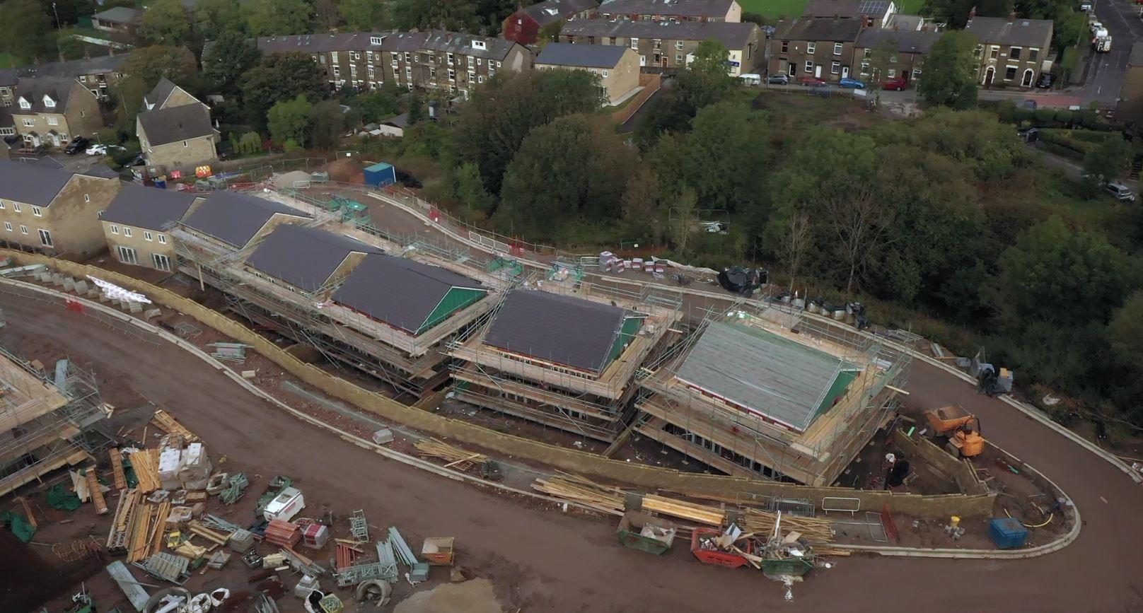 Building Site Progress Aerial Inspection by Drone Site Surveys