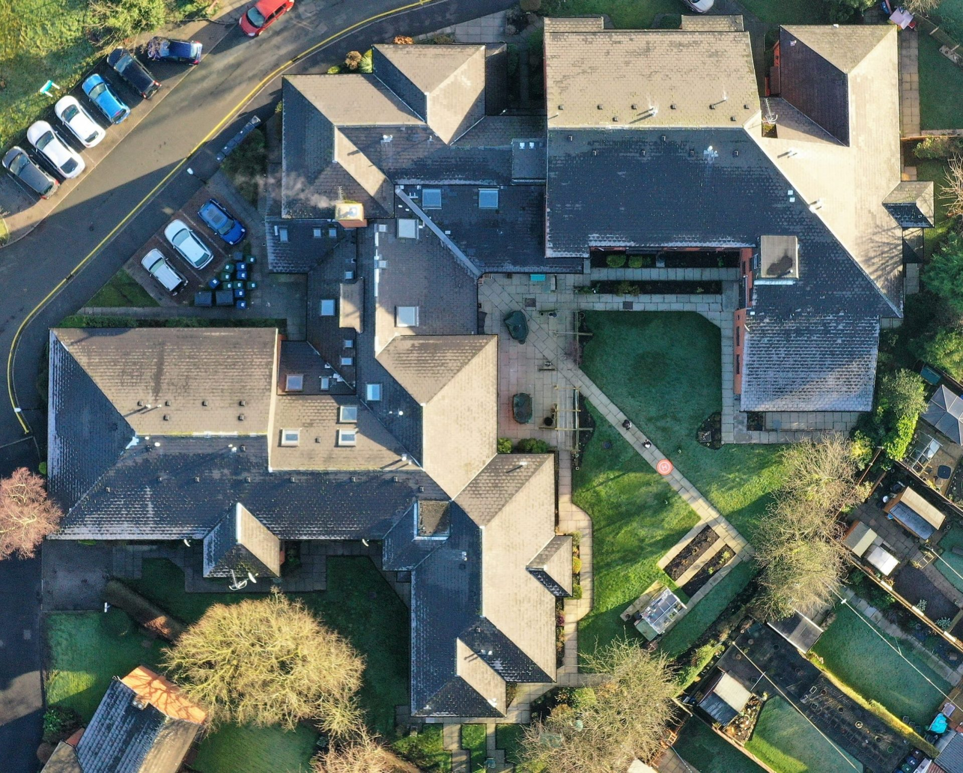 Aerial Roof Condition Survey carried out by drones