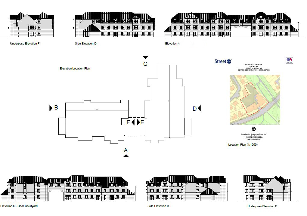 Elevations and layout drawings for planning applications