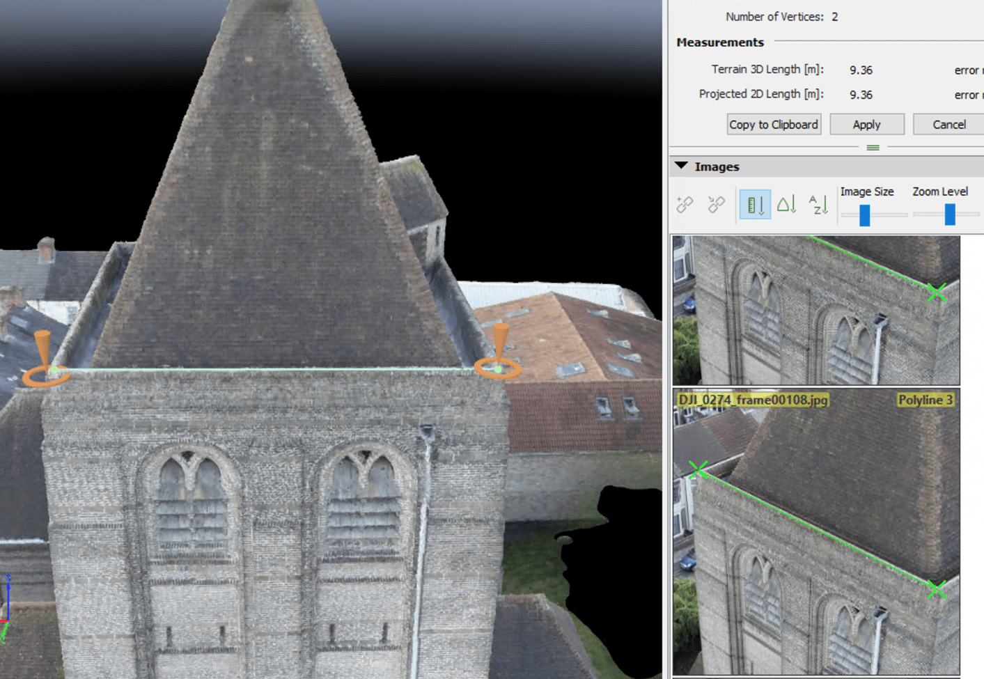 Point Cloud Creation in Pix4D photogrammetry software
