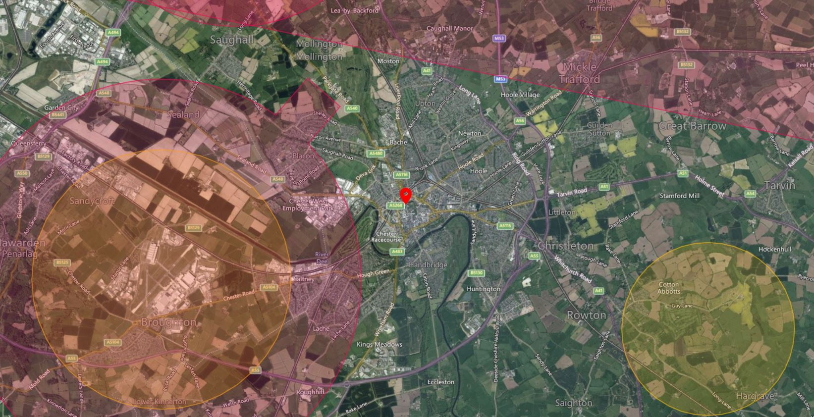 Chester Drone Airspace Map