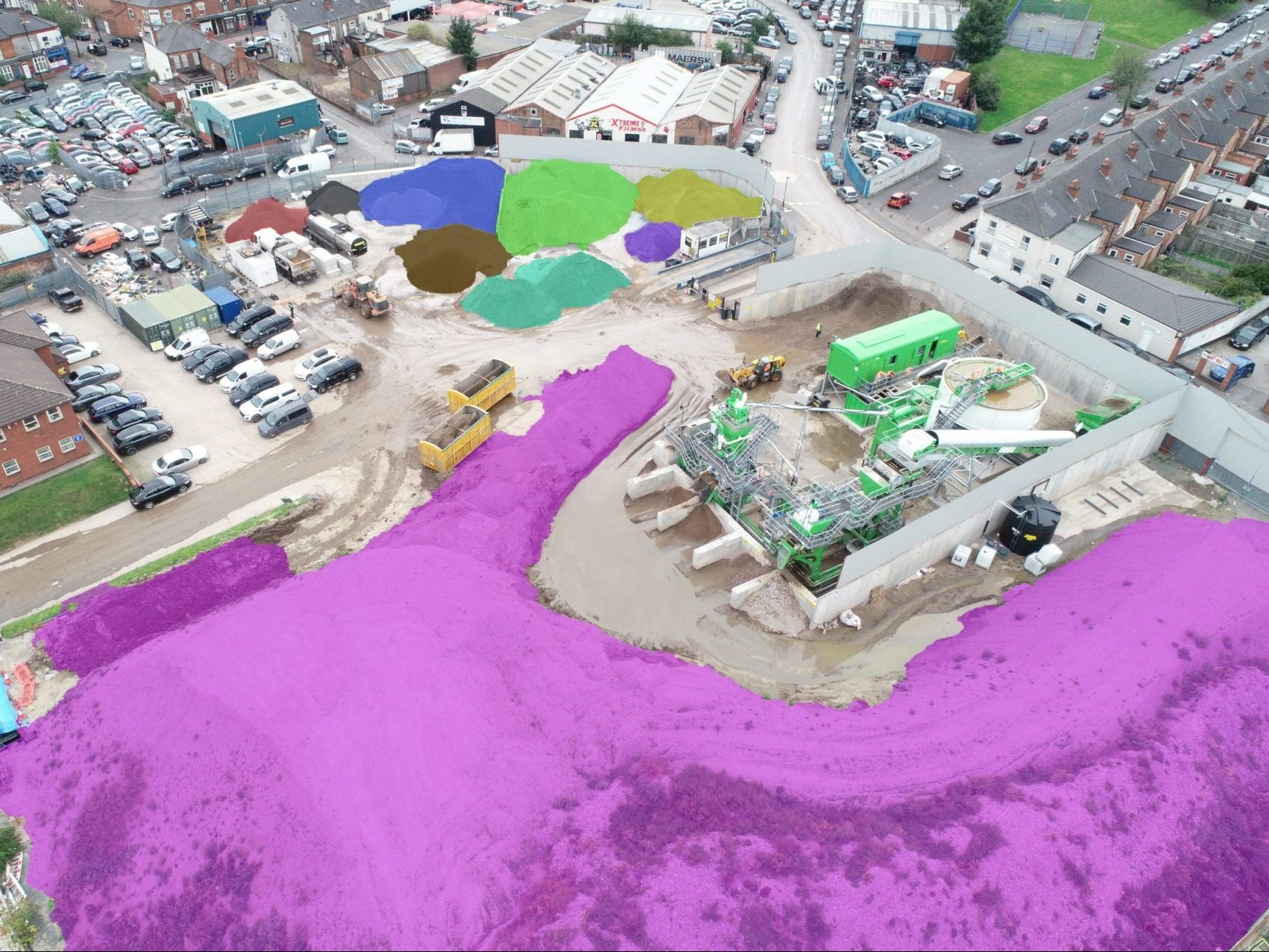 Volumetric Stockpile measuring using drones and photogrammetry software