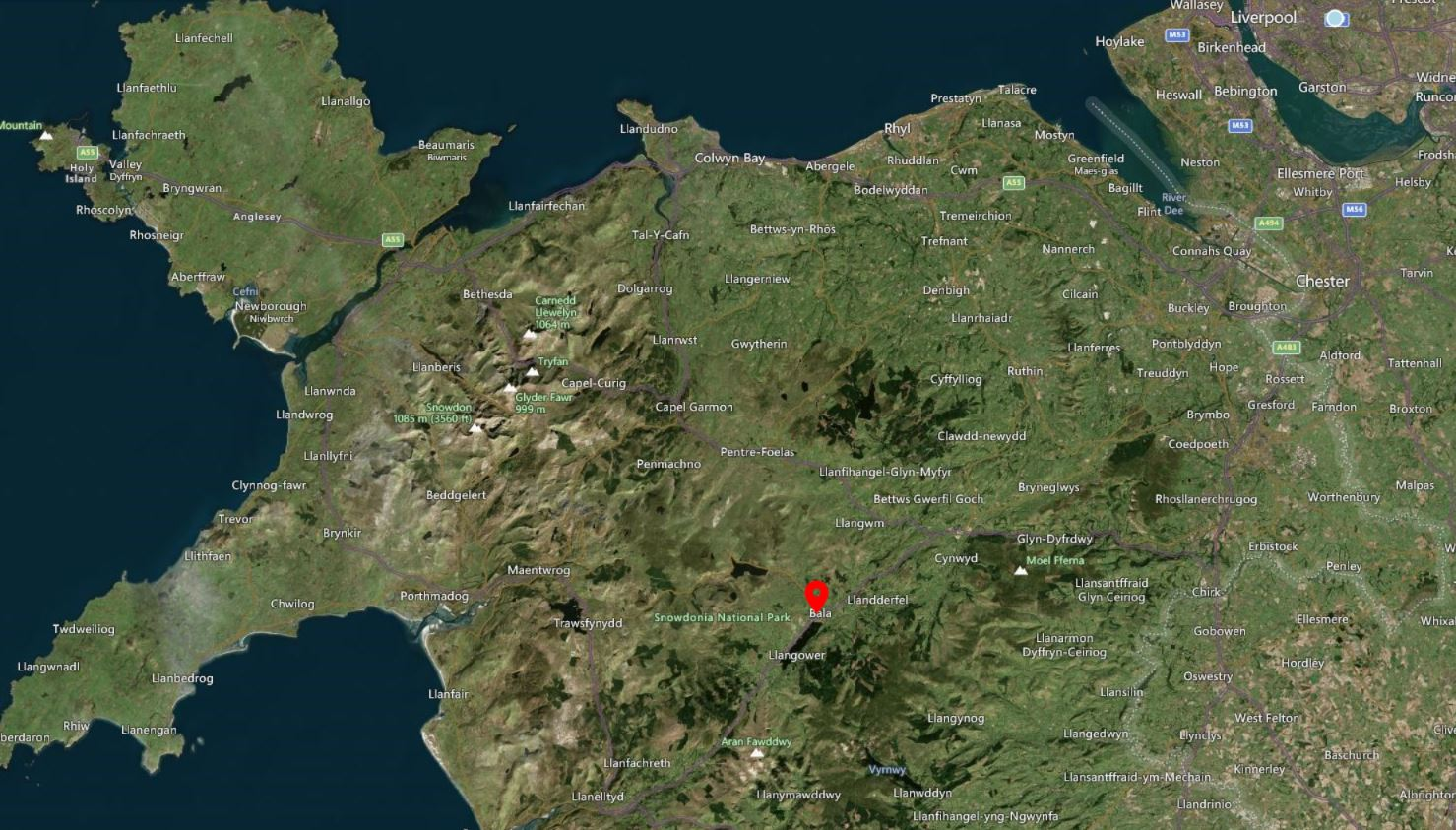 North Wales Drone Airspace Map