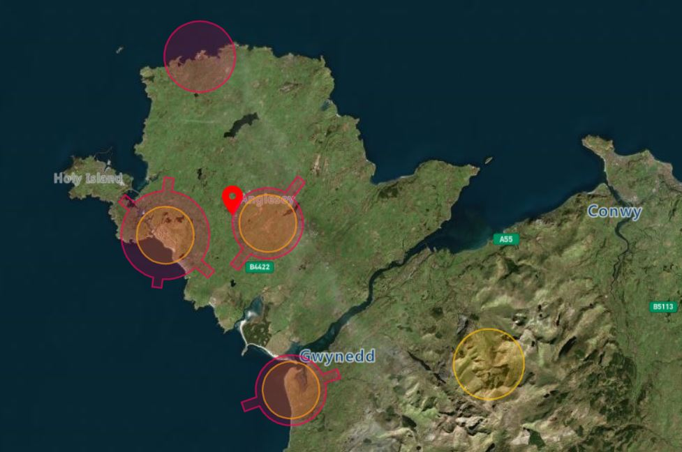 Anglesey Drone Airspace