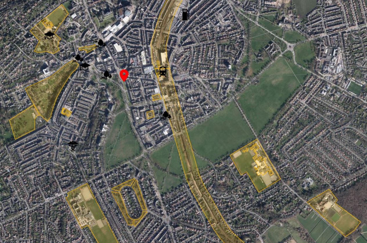 Harrogate Drone Airspace Map Close Up
