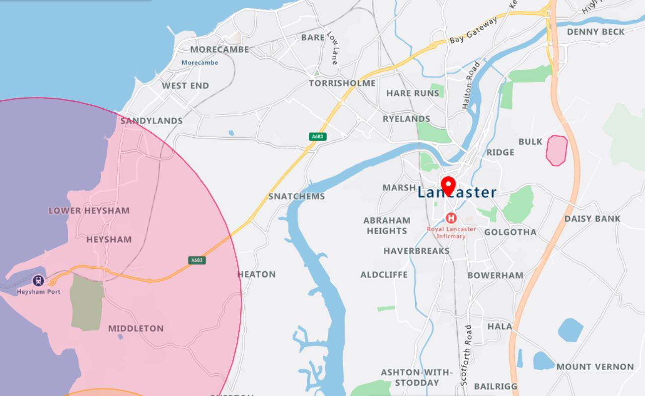 Lancaster Drone Airspace Map
