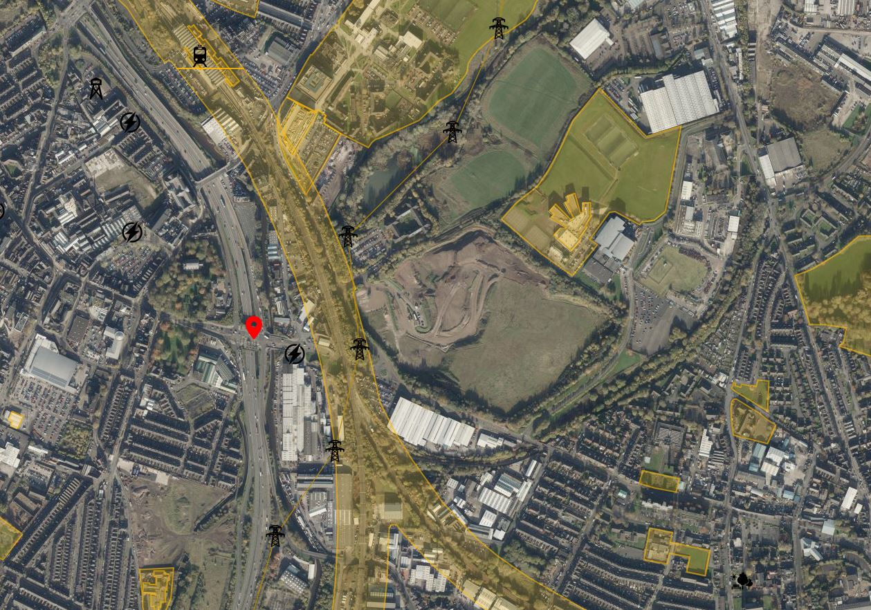 Drone Airspace Map Stoke Close Up