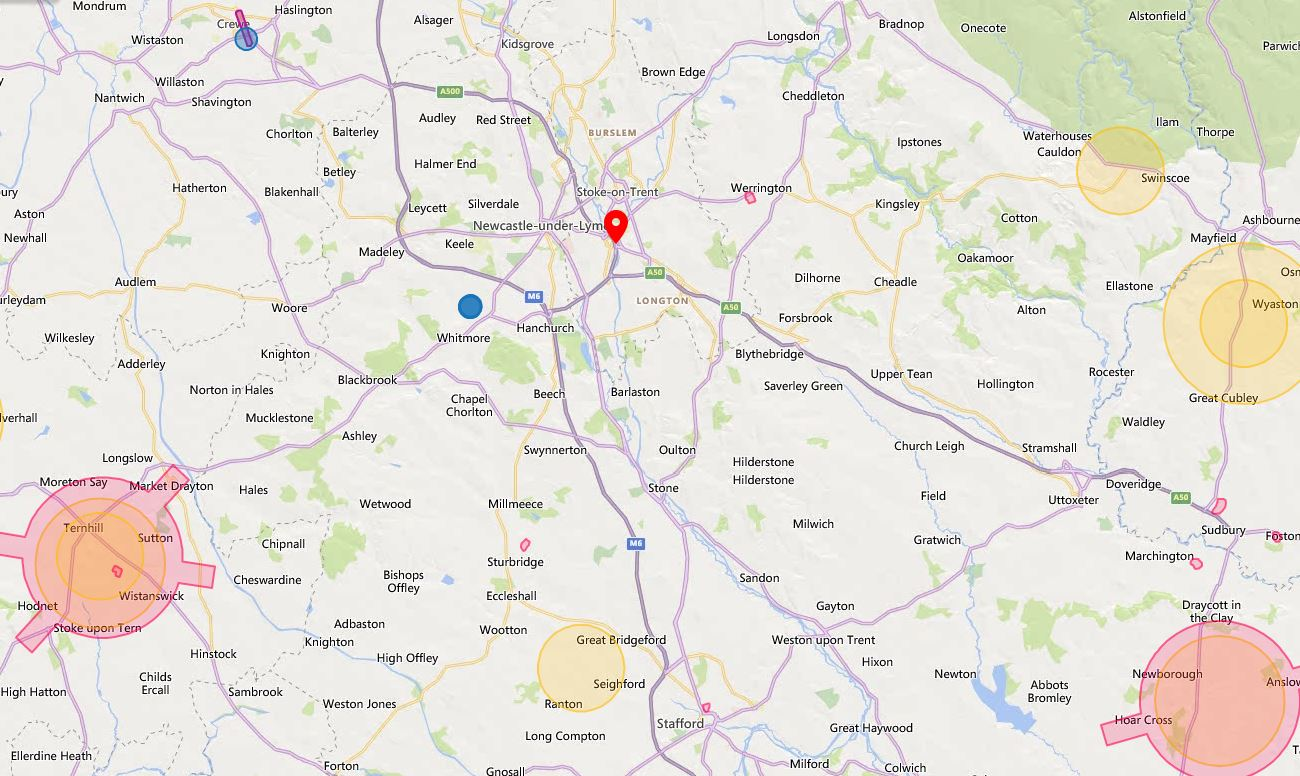 Drone Airspace Map Stoke Overview