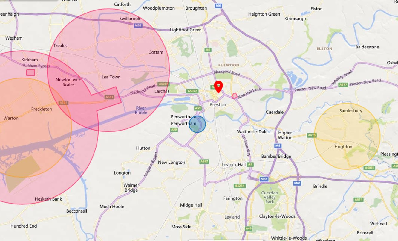 Preston Drone Airspace Overview