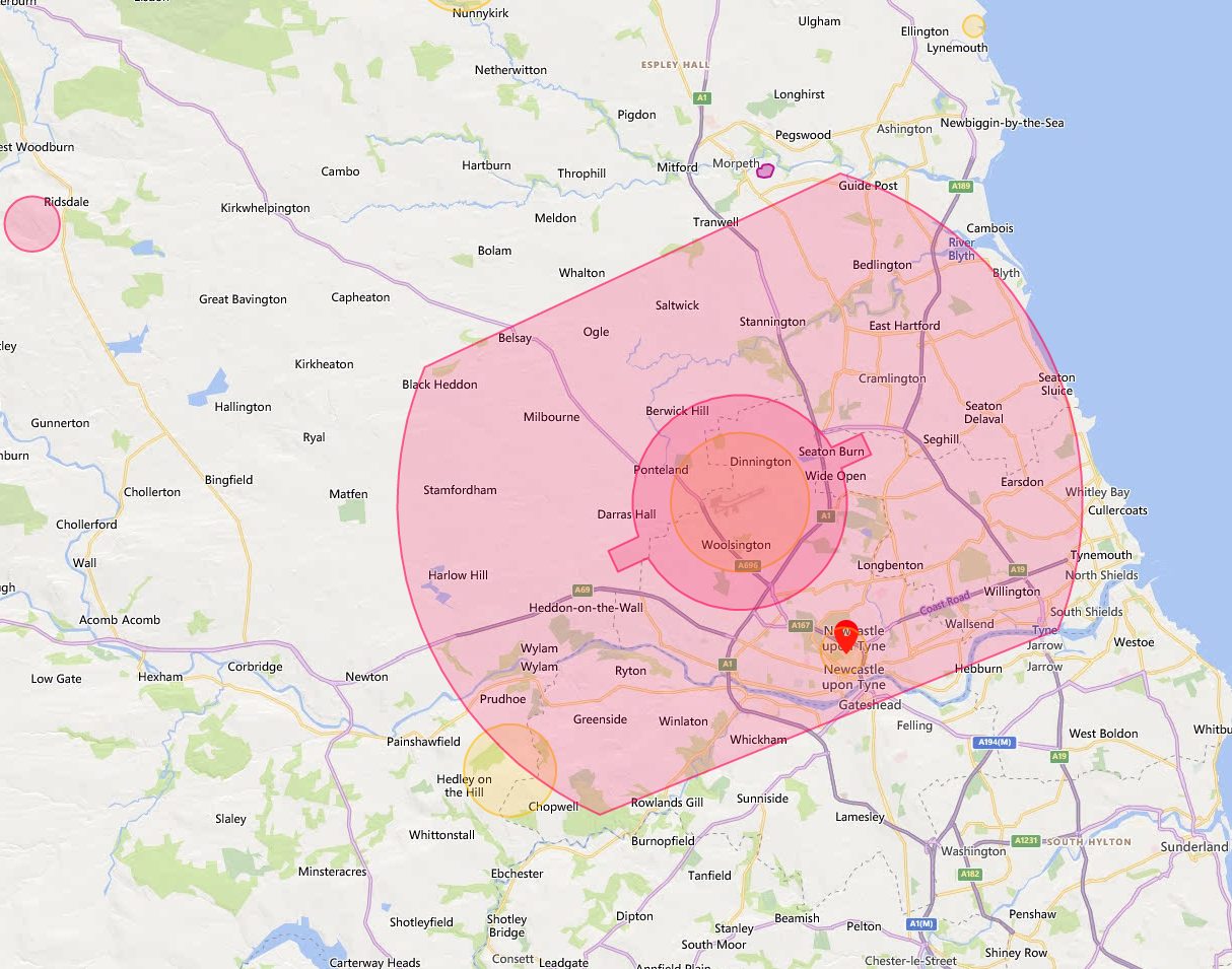 Newcastle Drone Safety Map Overview