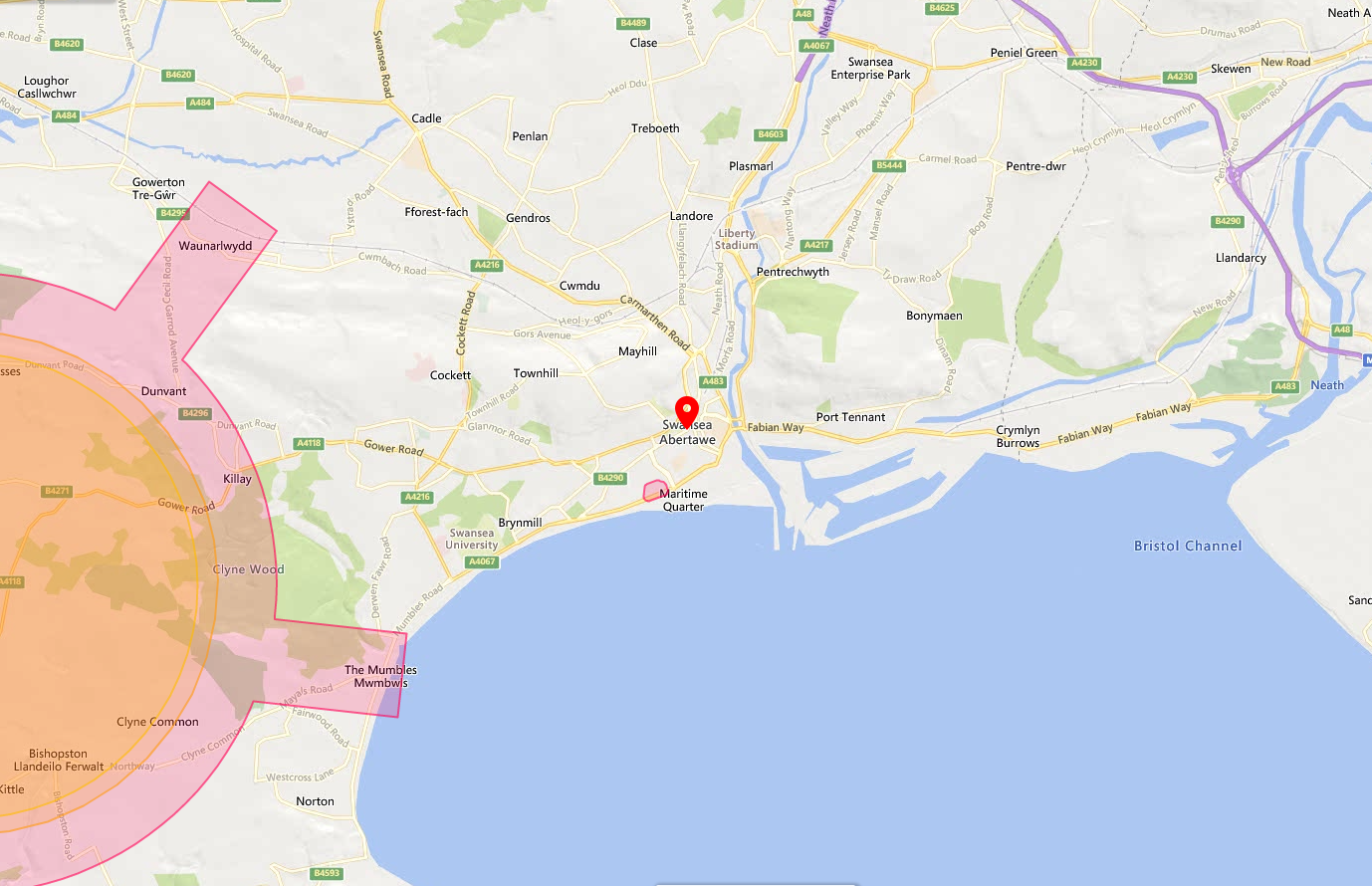 Swansea Drone Safety Map Overview