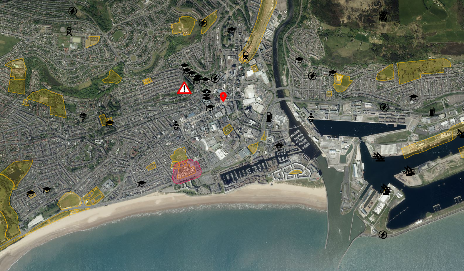 Swansea Drone Safety Map up close